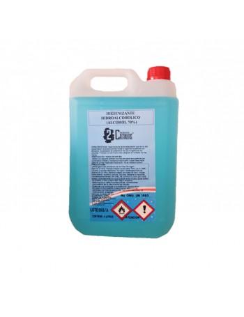 HIGIENIZANTE HIDROALCOHOLICO 5 LTS (ALCOHOL 70 %) LIMPIADOR