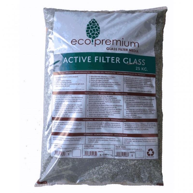Vidrio filtrante para filtros de piscina cristal 25kg - Vidrio filtrante para piscinas ...