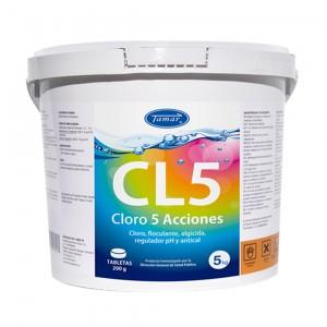 CLORO 5 ACCIONES 5Kg (PASTILLAS DE 200gr)