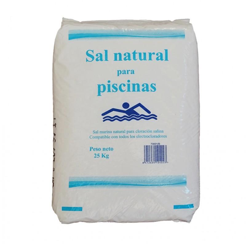 Sal natural para piscina saco 25 kg for Cantidad de sal para piscinas