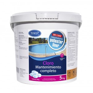 CLORO MANTENIMIENTO COMPLETO POLIESTER - LINER 5KG